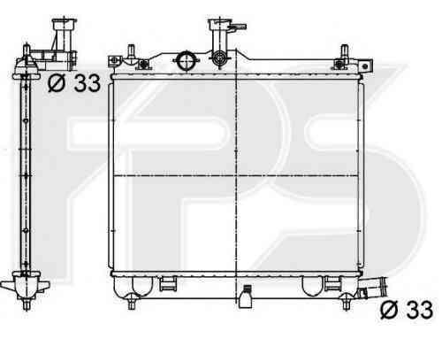 Радиатор охлаждения двигателя Hyundai i10 2008-2010