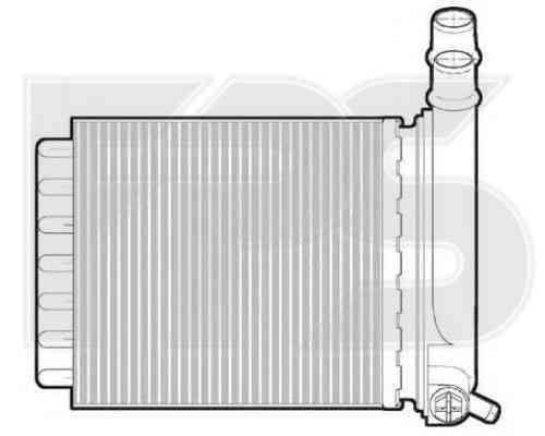 Радиатор печки Citroen Jumpy, Fiat Scudo, Peugeot Expert (07-12)