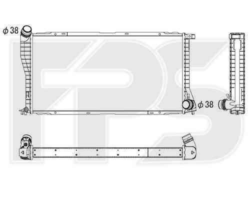Радиатор охлаждения двигателя BMW (BEHR) FP 14 A874-X