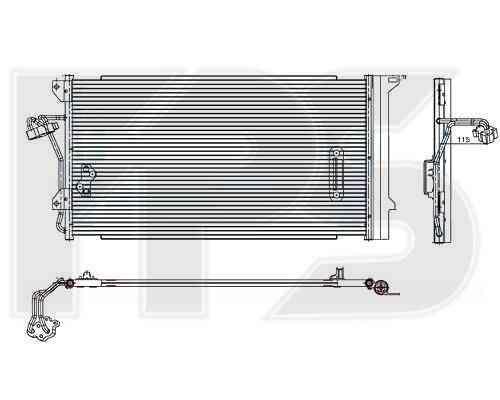 Радиатор кондиционера Audi Q7 2005-