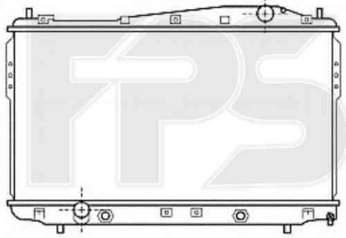 Радиатор охлаждения двигателя CHEVROLET (NISSENS) FP 17 A784-X