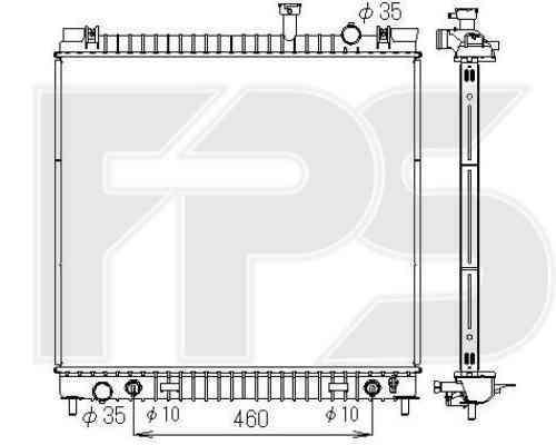 Радиатор охлаждения двигателя INFINITI QX56 2004-2010