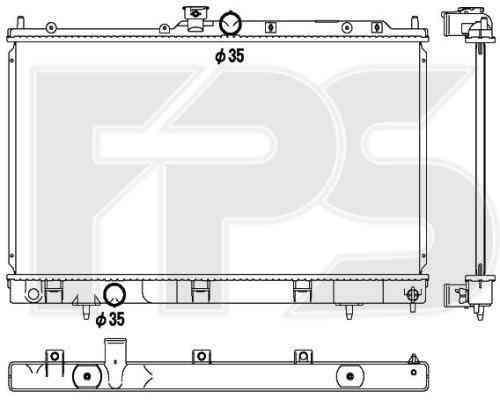 Радиатор охлаждения двигателя Mitsubishi (NRF) FP 48 A1366-X