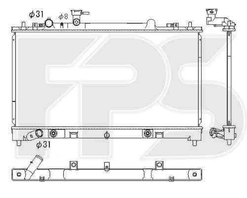 Радиатор охлаждения двигателя Mazda 6 (GH) 2010-2013