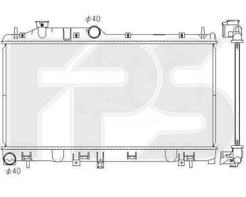 Радиатор охлаждения двигателя Subaru Impreza 2007-2011