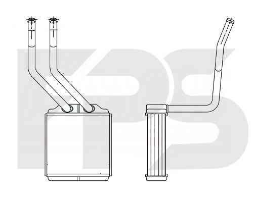 Радиатор печки Ford Transit '06-13 (FPS)