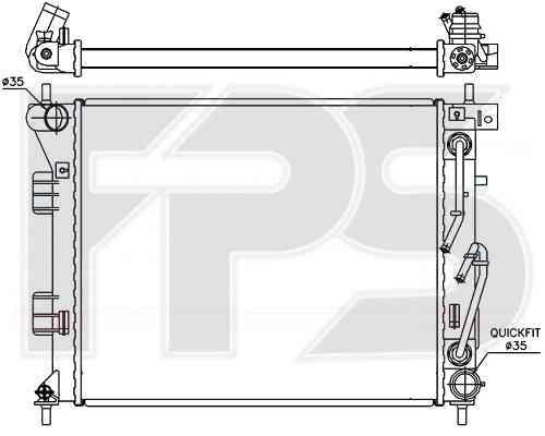 Радиатор охлаждения двигателя Hyundai i30 2012-