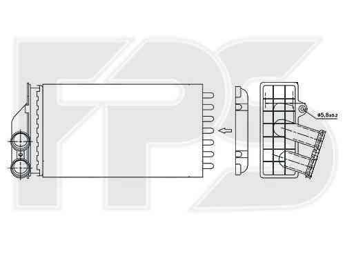 Радиатор печки Citroen C4 2005-2010