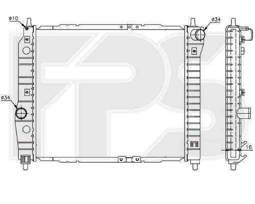 Радиатор охлаждения двигателя CHEVROLET  AVEO 2004-2006 SDN / HB (T200