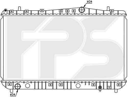 Радиатор охлаждения двигателя Chevrolet Lacetti 03-13, Daewoo Nexia N1