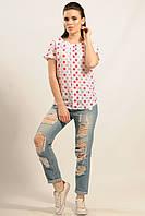 Блуза Айс Ри Мари красные звезды