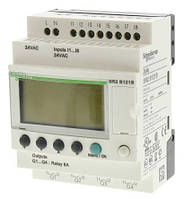 Программируемое логическое реле Zelio SR2B121B, 8 DI, 4 DO,  24 VAC, дисплей, часы