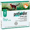 Bayer (Байер) Профендер Спот-он для котов до 2,5 кг (0,35мл),упаковка 2 пип.