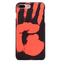 """Мягкий силиконовый чехол-накладка Тепловой датчик для Iphone 7 (4.7"""") Черный"""