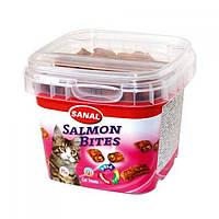 SANAL (Санал) Salmon Bites подушечки для сердечно-сосудистой системы, с лососем, для кошек, 75 г.