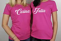 Женская  футболка с именем, фото 1