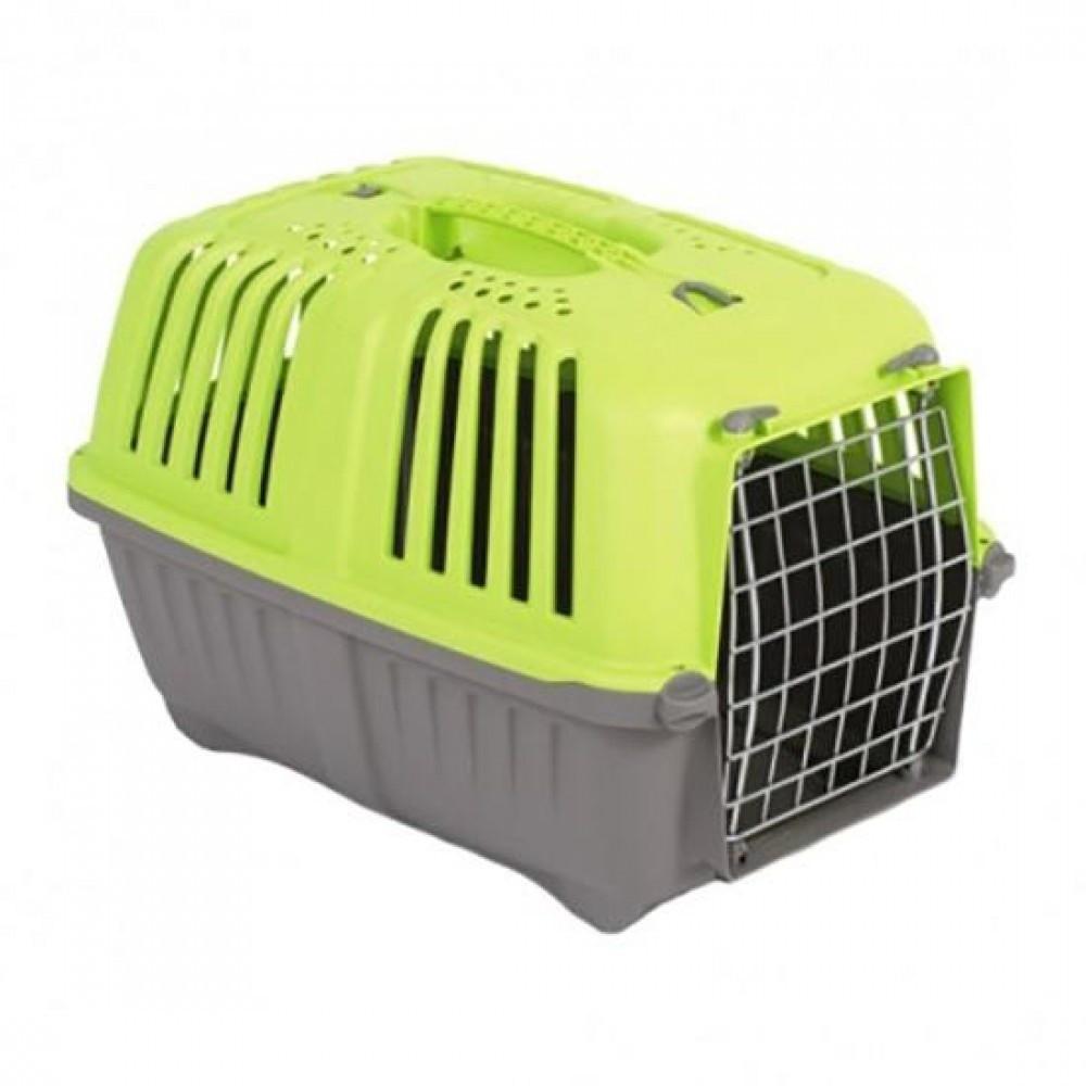 MPS Pratico 1 контейнер для транспортировки животных с метал. дверцей, зеленый 33x31,5x48 см, фото 1
