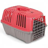 MPS Pratico 1 контейнер для транспортировки животных с метал. дверцей, красный 33x31,5x48 см