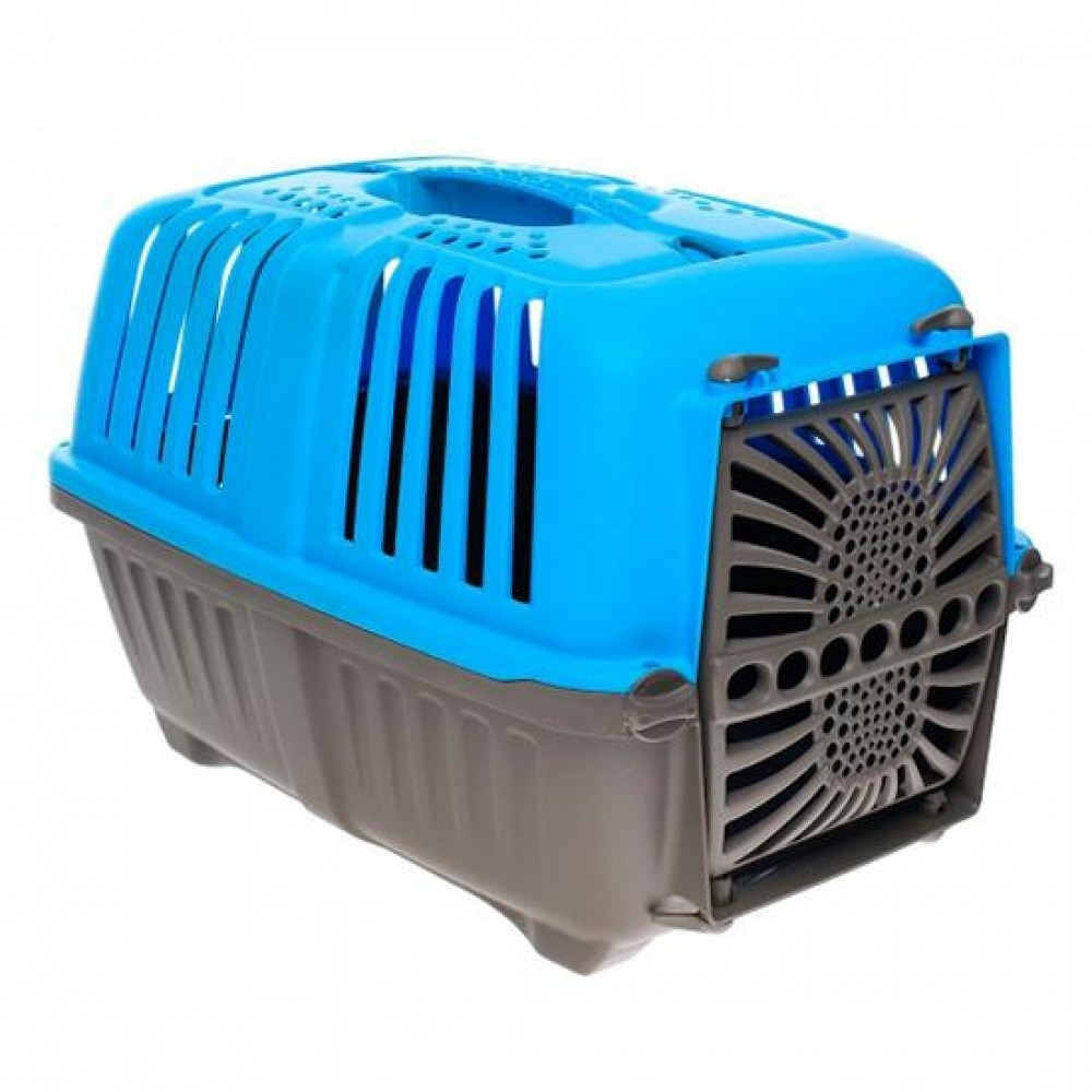 MPS (МПС) Pratico 1 контейнер для транспортировки животных с пласт. дверцей, голубой 33x31,5x48 см, фото 1