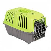 MPS (МПС) Pratico 2 контейнер для транспортировки животных с метал. дверцей, зеленый 55x36x36 см