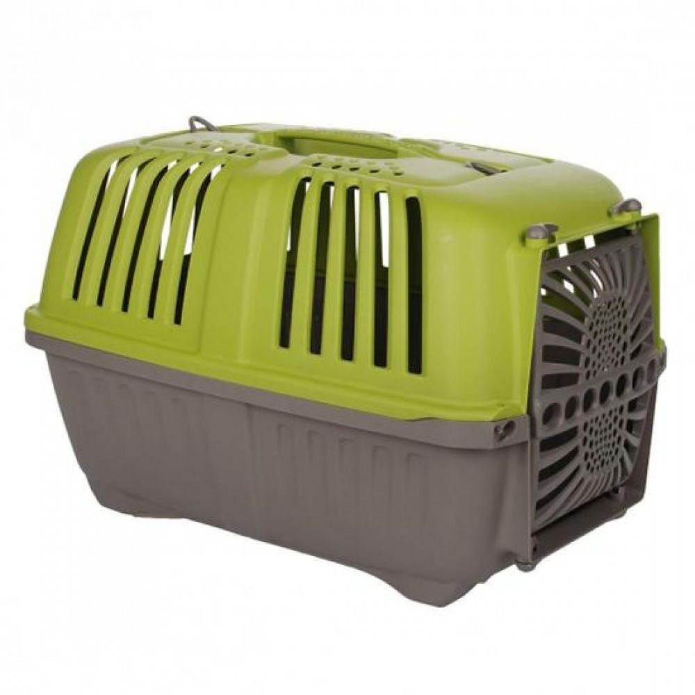 Контейнер для транспортировки животных 33x31,5x48 см, до 12 кг,с пластиковой дверцей, зеленый, MPS Pratico 1 , фото 1