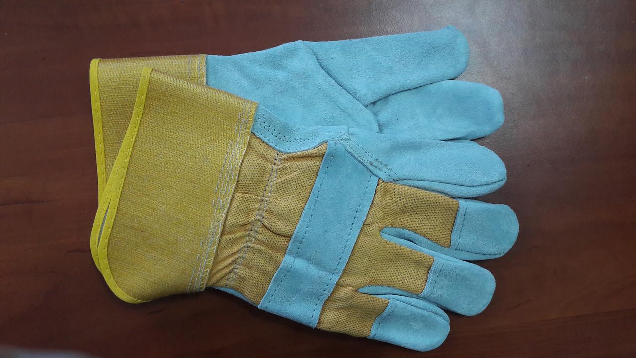 Перчатки замшевые, плотные