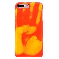 """Мягкий силиконовый чехол-накладка Тепловой датчик для Iphone 7 и Iphone 8 (4.7"""") Красный"""