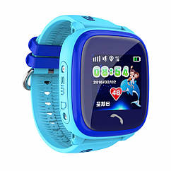 Детские умные gps часы Водонипроницаемые Smart baby watch DF25(ip67) blue