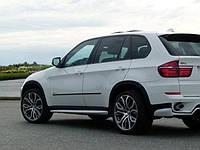 Накладки на пороги обвес BMW X5 E70 рестайл стиль Performance