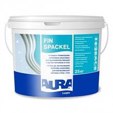 Aura Luxpro Fin Spackel 25 кг - Акриловая шпатлевка для высококачественной отделки потолков и стен.
