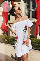 Платье летнее с вышивкой 01474 ХОР, фото 1