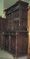 Старинный деревянный сервант- буфет, фото 1