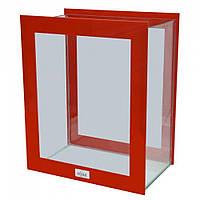 AquaStar (АкваСтар) Domino аквариум декоративный, красный,25х15х18cм 10.5 л