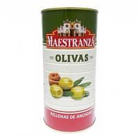 Оливки Maestranza с анчоусами 1500\600g