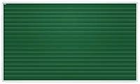 Доска 2х3 для письма мелом, лакированная магнитная поверхность в линию 5 см 100x170 см (TKU1710L)