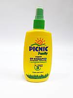 Спрей от комаров, мокрецов, москитов PICNIC Family с экстрактом ромашки