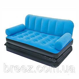 Раскладной велюровый диван 2 в 1 Bestway 67356-O оранжевый, 188 х 152 х 64 см