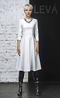 Платье Миди белая экокожа