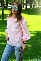 """Модная летняя молодежная хлопковая блузка с длинным рукавом """"Ella"""""""