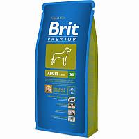 Сухой корм Брит Премиум ХЛ (Brit Premium Adult XL) для взрослых собак гигантских пород с курицей, 15 кг