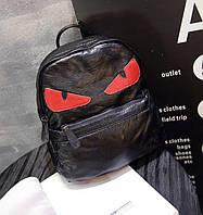Вместительный отличный городской рюкзак со злыми красными глазами. Хорошее качество. Доступно. Код: КГ1442