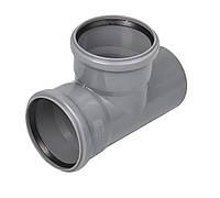 Тройник для канализации Wavin ПВХ 110х110/45