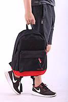 Рюкзак городской мужской, женский, сумка, портфель, черно-красный