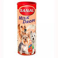 SANAL (Санал) Milk Drops молочные дропсы на дрожжевой основе для собак, 125 г.