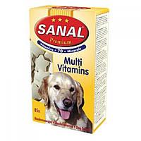 SANAL (Санал) Premium Multivitamins дрожжевые таблетки с пророщенной пшеницей для собак, 85 г.
