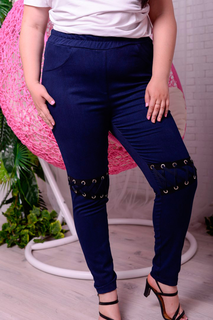 aa7b3514834 Стильные джинсы больших размеров Вестерн (48-82) - DS Moda - женская одежда