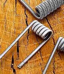 Спираль Staggered Fused Clapton coil Стагеред 3мм, 6 витков, 0.4мм, 0.2мм, Кантал А1, Нихром Х20Н80