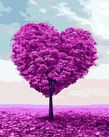 Картины по номерам 40×50 см. Дерево любви