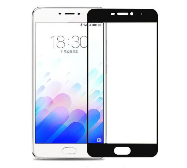 Full Cover защитное стекло для Meizu M5 Note - Black