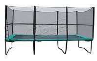 Прямоугольный батут 457х305 см. с защитной сеткой + лестница